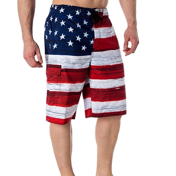 3007d214dd Resist Swim | New Mens American Flag Board Shorts Usa | Poshmark